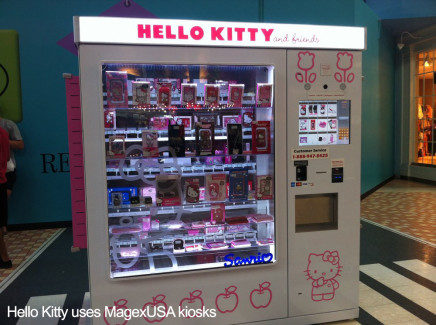 MagexUSA Hello Kitty Automated Retailing System Intelligent Vending Machine