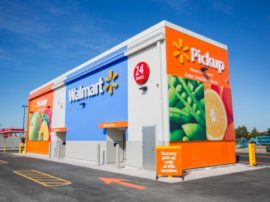 Walmart uses automated vending and retailing solutions